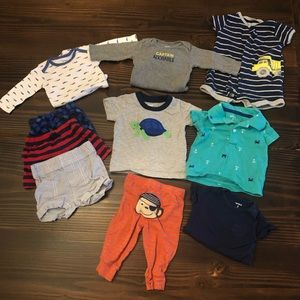 0-3 Month Baby Boy Spring Summer Clothes Bundle